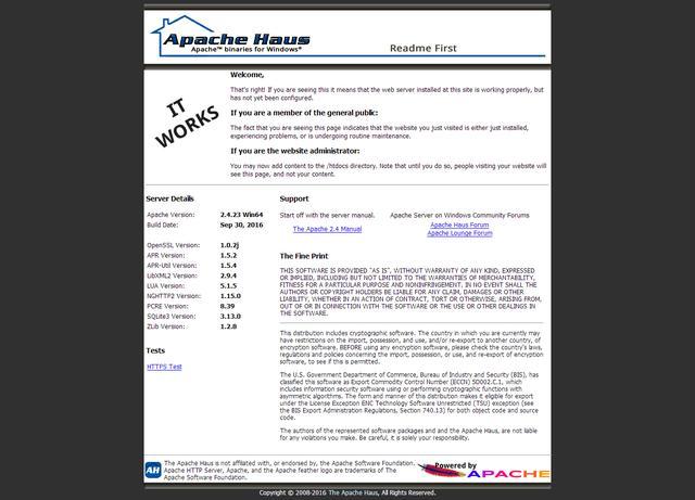win10系统phpStudy搭建Apache的PHP开发环境