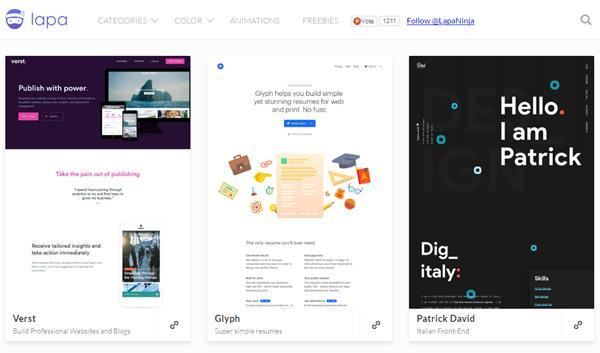站酷_国内外15个优秀网页收录网站_不黄不色优秀设计